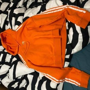 Orange Adidas sweater